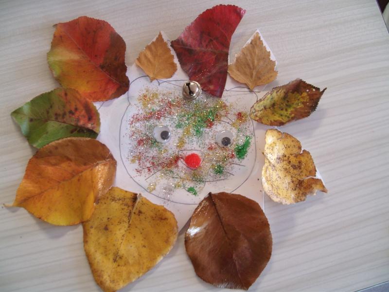 Autre activit d 39 automne le lion en feuilles d 39 automne - Activite feuille d automne ...